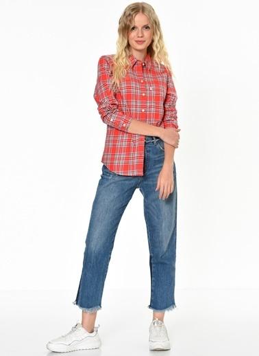 Levi's® Kareli Gömlek Kırmızı